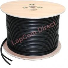 100m High Quality Black Shotgun RG59 + 2 Core Power CCTV Video Cable